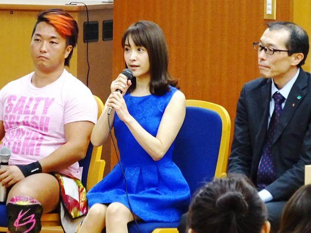女優のみひろさんと同塾出身のプロレスラー三富政行さんがゲストとして登壇