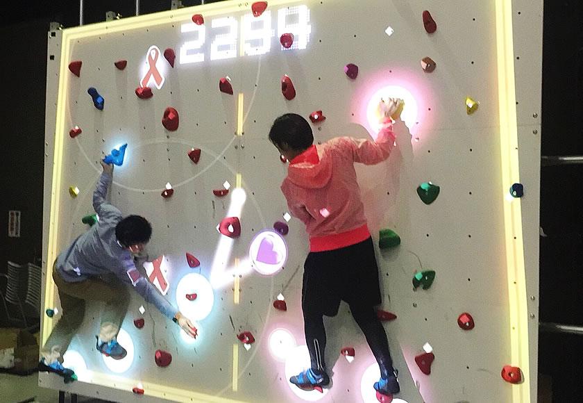 オカモトLOVERS研究所 presents 2017. 世界エイズデー レッドリボン・ペアサイバークライミングを渋谷MODIで開催!!